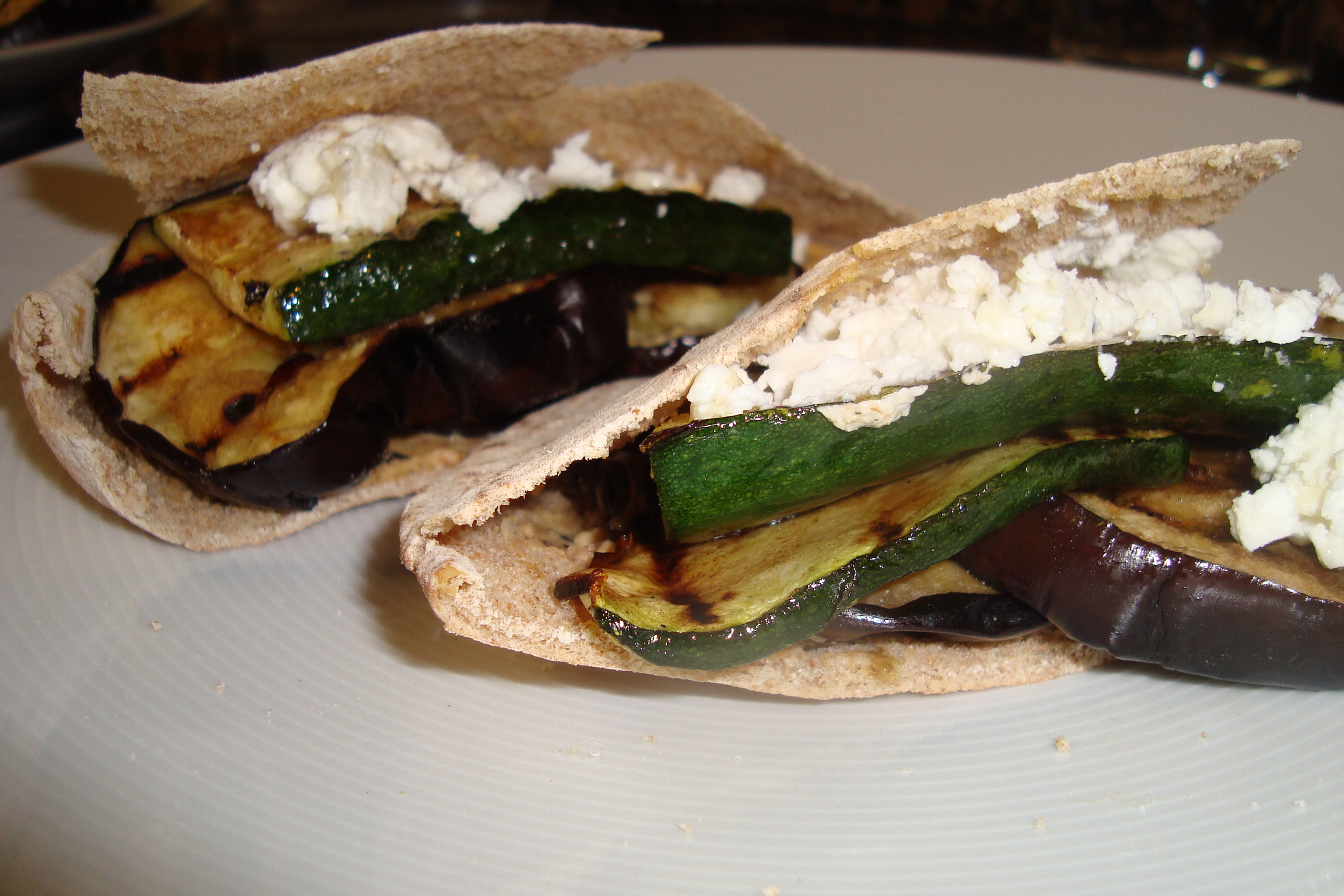 Grilled vegetable sandwiches with hummus and goat cheese ...