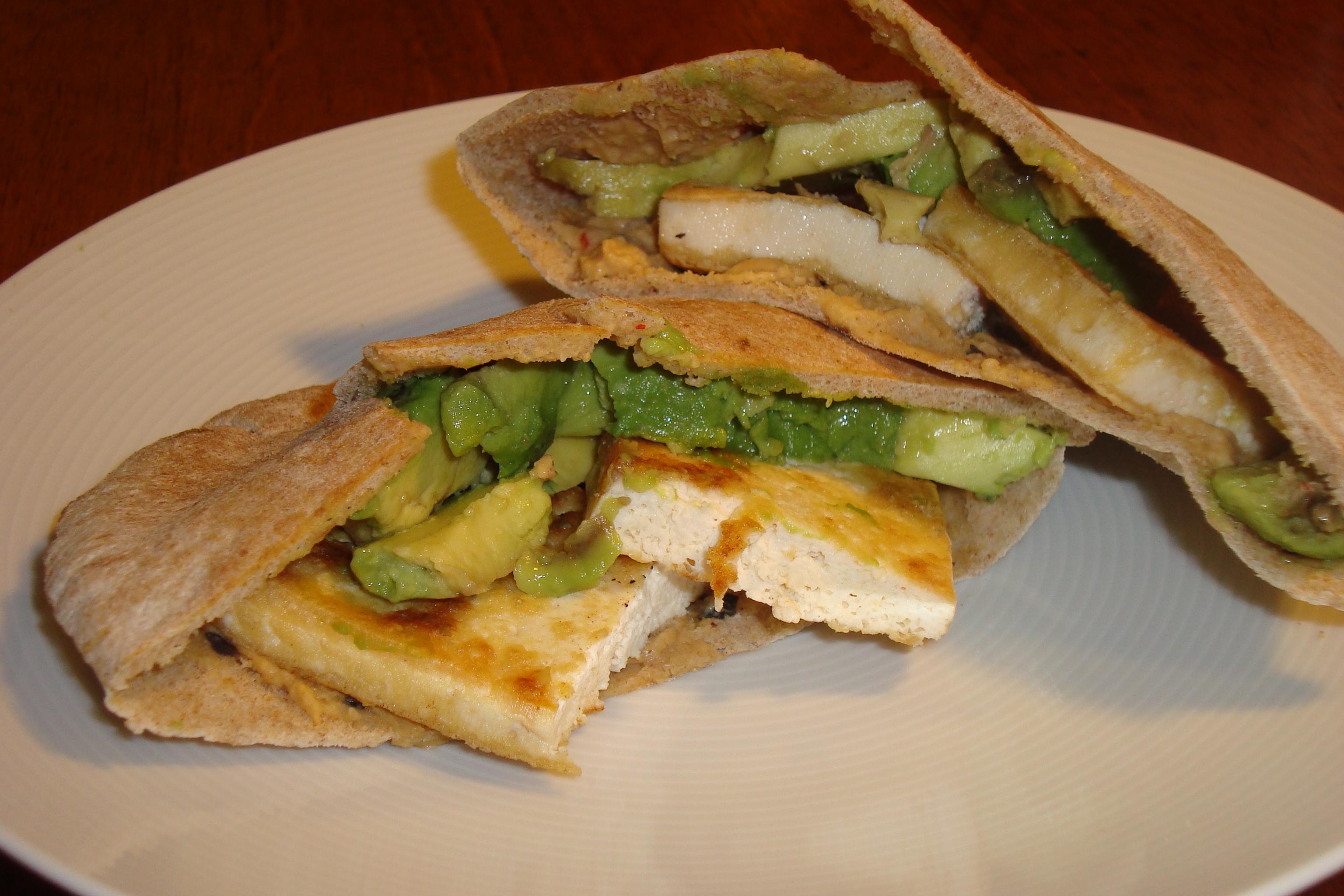 Tofu, avocado, and hummus sandwiches | Tiny Perfect Bites